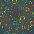 Floral mix new seamless pattern with colorful flowers can use like vintage background Stock Images