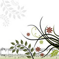 Floral Musical Background Royalty Free Stock Photo