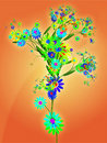 Floral nature themed design illustration Stock Photography