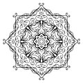 Floral ornament arabesque hand drawn sketch for your design this is file of eps format Stock Photos