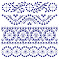 Floral ornament borders set of decorative Royalty Free Stock Image