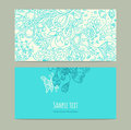 Floral ornament cards Royalty Free Stock Photo