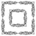 Floral ornament frame decorative vector decorative corner Royalty Free Stock Images