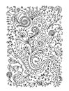 Floral ornament hand drawn sketch for your design this is file of eps format Stock Image