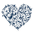 Floral ornament heart shape for your design Royalty Free Stock Photo
