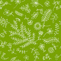 Floral ornament sketch, seamless background Royalty Free Stock Images