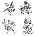 Floral ornament. Vector  Royalty Free Stock Images