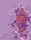 Floral ornamental background