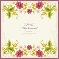 Floral Ornamental Background in Vintage Sty Royalty Free Stock Photo