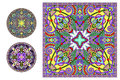Floral ornamental pattern collection to fabric printing