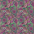 Floral ornamental seamless pattern decorative Royalty Free Stock Images