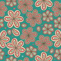 Floral ornamental seamless pattern Decorative nice flowers background Endless ornate texture