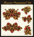 Floral Ornaments in Russian Traditional Style Royalty Free Stock Photos
