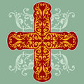 Floral Ornate Cross Royalty Free Stock Photography