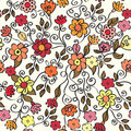 Floral ornate seamless pattern Royalty Free Stock Image