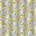 Floral ornate vector seamless pattern. Silver ornamental vintage Royalty Free Stock Photo