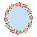Floral oval frame Royalty Free Stock Images