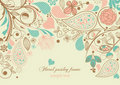 Floral paisley frame Royalty Free Stock Photo