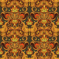 Floral paisley seamless pattern Royalty Free Stock Photos