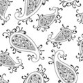 Floral paisley swirl Stock Photography