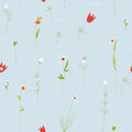 Floral pastel seamless pattern with small flowers Royalty Free Stock Photo