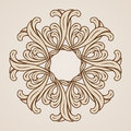 Floral pattern abstract ornamnet in light and dark brown colors Royalty Free Stock Image