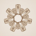 Floral pattern abstract ornate flower in light and dark brown colors Royalty Free Stock Photos