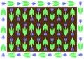 Floral pattern on angular tile ornamental geometric Royalty Free Stock Photo