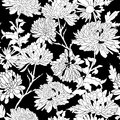 Floral pattern background with chrysanthemum vector illustration Royalty Free Stock Photos