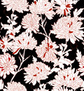 Floral pattern background with chrysanthemum vector illustration Stock Images