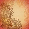 Floral pattern background with indian ornament Royalty Free Stock Image