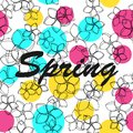 Floral pattern background spring vector illustration Royalty Free Stock Photo