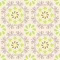 Floral pattern on beige background seamless geometric ornamental Royalty Free Stock Image