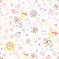 Floral pattern with birds Royalty Free Stock Photography