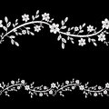 Floral pattern black and white decorative bacgkround Stock Image