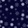 Floral pattern on a blue background