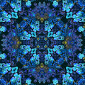 Floral pattern with blue flowers