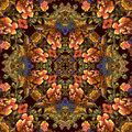 Floral pattern with brown flowers