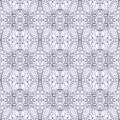Floral pattern contour black and white seamless Stock Photos
