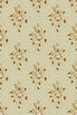 Floral pattern in deciduous ovals Stock Images