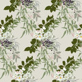 Floral pattern in earthy tones Royalty Free Stock Photo