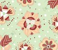 Floral pattern fabric design Stock Photos