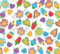 Floral pattern fabric design Royalty Free Stock Photo