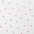 Floral pattern flower background on cloth white Royalty Free Stock Images