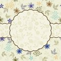 Floral pattern with frame in vector Royalty Free Stock Image