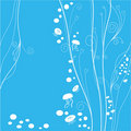Floral pattern of marine organism Royalty Free Stock Images