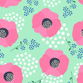 Floral pattern on mint green background.