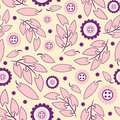 Floral pattern in modern Royalty Free Stock Photo