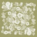 Floral pattern in pastel colors, Vector eps10. For the design of scarves.