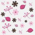 Floral pattern - pink and brown Royalty Free Stock Photo